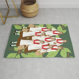12 Days of Christmas: Eight Maids A Milking Rug