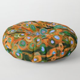 Fall Red Leaves Tree Floor Pillow