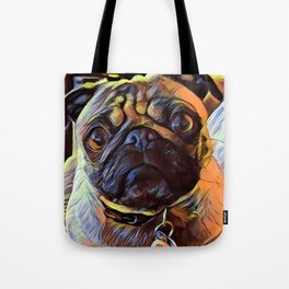 The PUG from our POP YOUR POOCH line Tote Bag