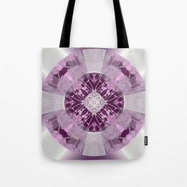 Microchip Mandala in Pink Tote Bag