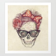 Hipster Girl is Dead Art Print