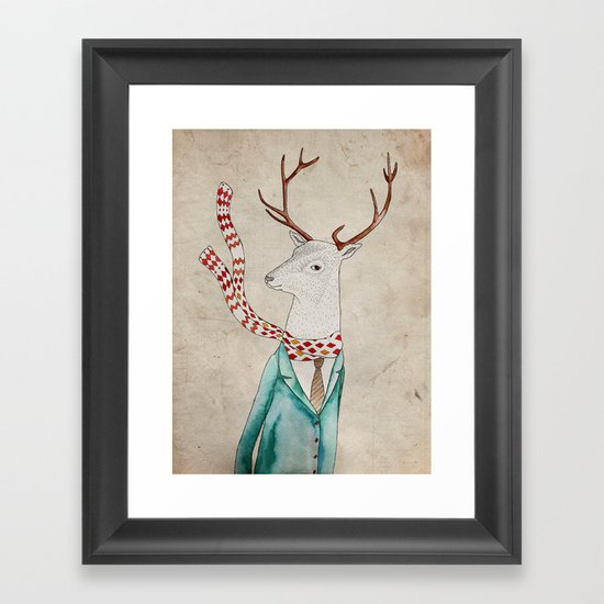 Dear deer. Framed Art Print