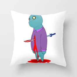 Insensitive Die Throw Pillow