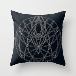 Arachne's Mandala Throw Pillow