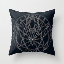 Arachne's Mandala Throw Pillow