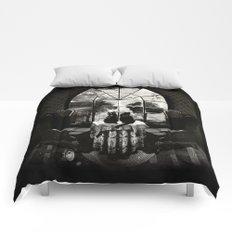 Room Skull B&W Comforters