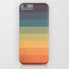 Colorful Retro Striped Rainbow iPhone Case