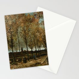 Vincent Van Gogh Poplars Near Nuenen Stationery Cards