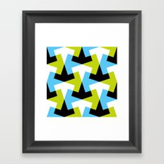Geometric Pattern #61 (green blue black) Framed Art Print