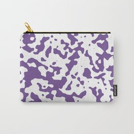 Spots - White and Dark Lavender Violet Carry-All Pouch
