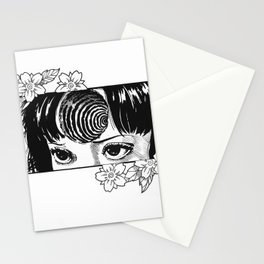 Junji Ito with cherry blossoms Stationery Cards