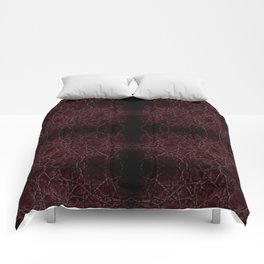 Dark frayed leather texture abstract Comforters