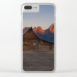 Moulton Barn - Sunrise in Grand Tetons Clear iPhone Case