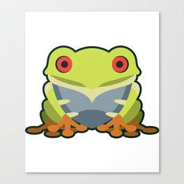Cute Kawaii Green Tree Frog Canvas Print