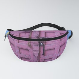 Pink Door In The Blue City, Jodhpur Fanny Pack