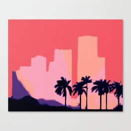 Sunset Time in Miami Canvas Print