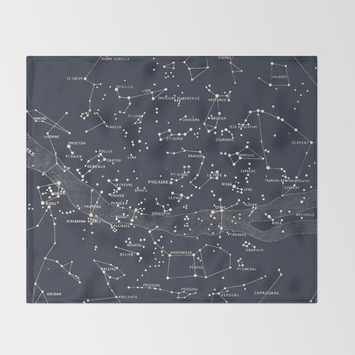 Carte du Ciel I Throw Blanket
