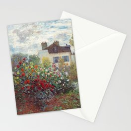 Claude Monet - The Artist's Garden in Argenteuil, A Corner of the Garden with Dahlias Stationery Cards