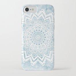 LIGHT BLUE MANDALA SAVANAH iPhone Case