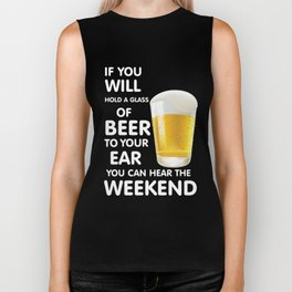 will hold a glass of beer  - I love beer Biker Tank