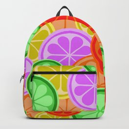 FRUITY CITRUS PATTERN BIG BOLD ORANGES LEMONS AND PINK GRAPEFRUIT WITH LIMES Backpack