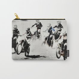 The Race is On  - Motocross Racers Carry-All Pouch