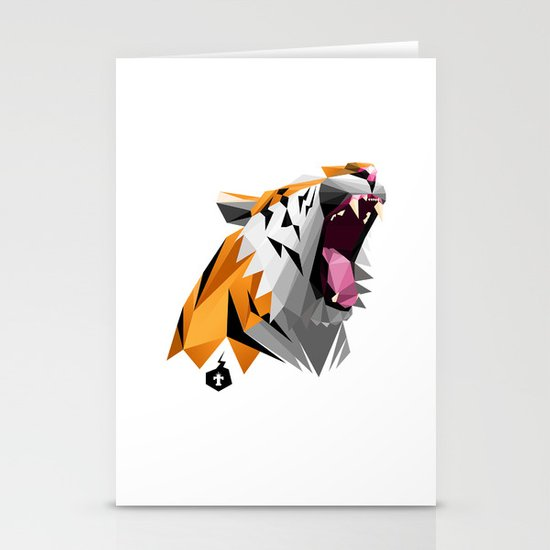 TML polygon tiger ROAR!!! Stationery Cards