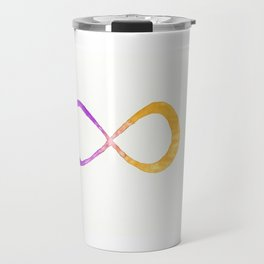 infinite (purple/yellow) Travel Mug