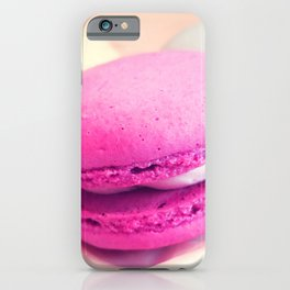 Macarons / Macaroons Fuchsia Peach iPhone Case
