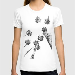 {2 of 2} Palm Trees = Happy // Black and White Summer Sky T-shirt