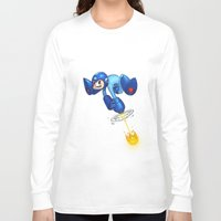 megaman Long Sleeve T-shirts featuring MEGAMAN by Brwnbear