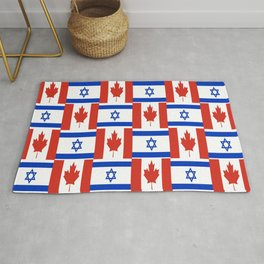 Mix of flag: canada and israel Rug