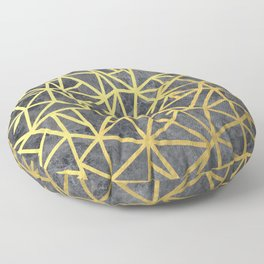 Ab Marb Gold Floor Pillow