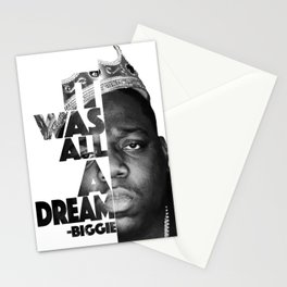 Urban Biggie Smalls Lyrics/Text Font Stationery Cards