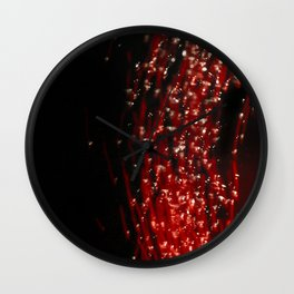 Primary Colors: Red Wall Clock