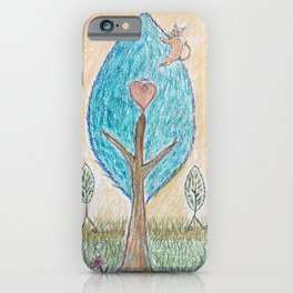 happy place - cat on tree iPhone Case
