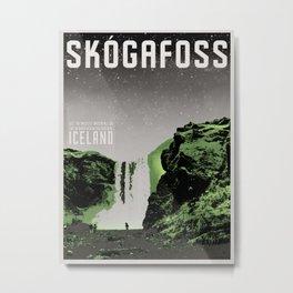 Iceland: Skogafoss Metal Print