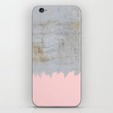 Paint with pink on concrete iPhone & iPod Skin
