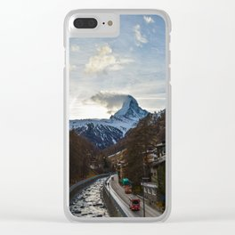 Matterhorn Zermatt Switzerland Clear iPhone Case