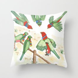 Birds of a Feather Flocking Together Throw Pillow