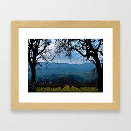 Napa Vineyard Framed Art Print