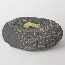 La Roue de Fortune or Wheel of Fortune Tarot Floor Pillow