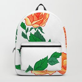 Frame from abstract roses Backpack