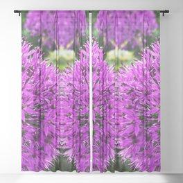 Magic Purple Flower Photography Sheer Curtain