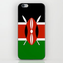 National flag of Kenya - Authentic version, to scale and color iPhone Skin