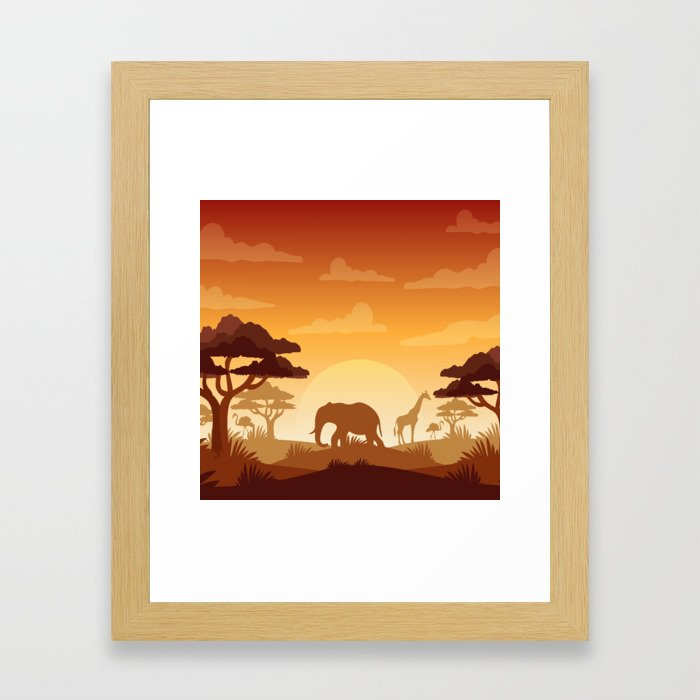 Abstract African Safari Framed Art Print