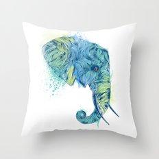 Elephant Head II Throw Pillow