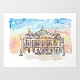 Paris Opera at Sunset Art Print