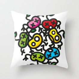 apple color crazy Throw Pillow
