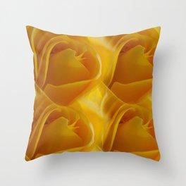 Yellow Rose of California Throw Pillow